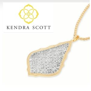 ■Kendra Scott■ Aiden Silver Filigree Mix Necklace